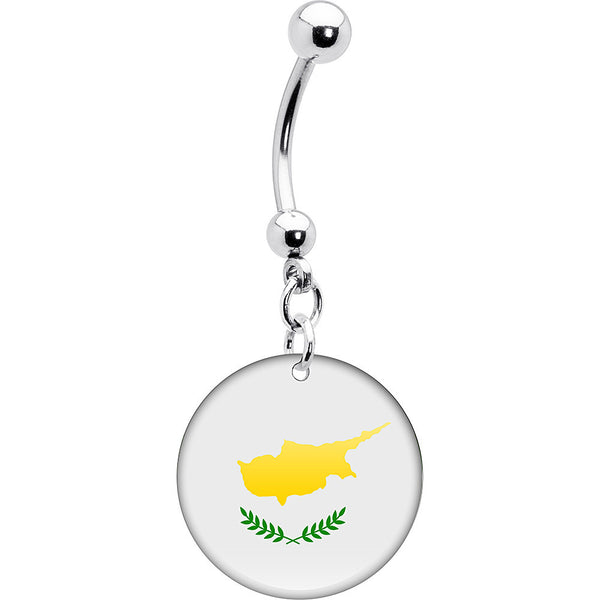 Cyprus Flag Belly Ring