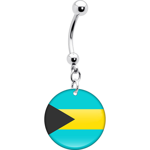 Bahamas Flag Belly Ring