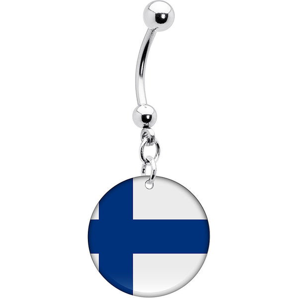 Finland Flag Belly Ring