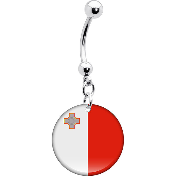 Malta Flag Belly Ring