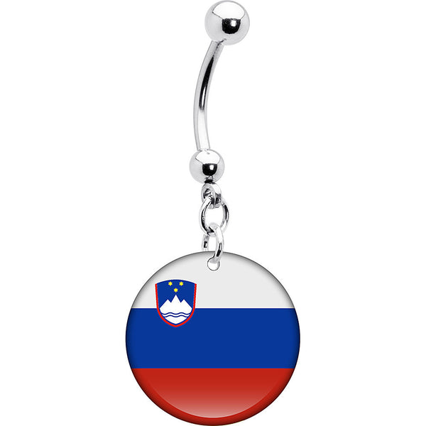 Slovenia Flag Belly Ring