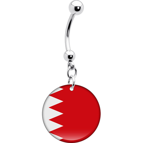 Bahrain Flag Belly Ring