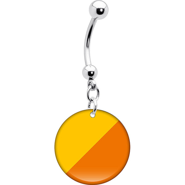 Bhutan Flag Belly Ring