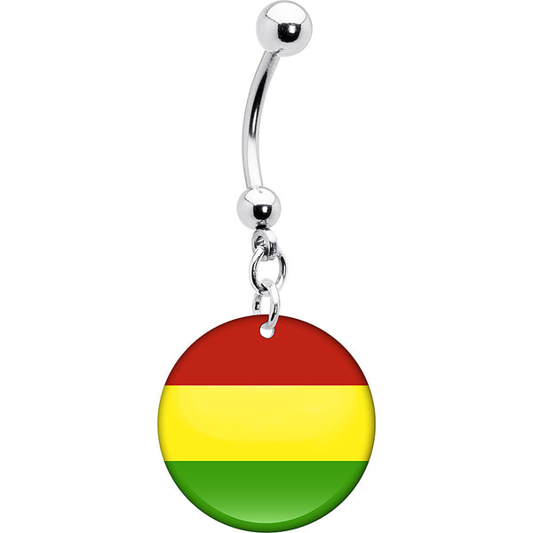 Bolivia Flag Belly Ring