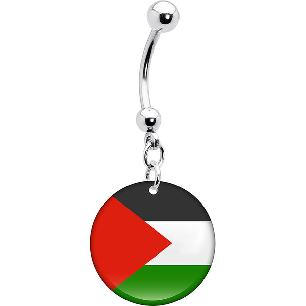 Palestine Flag Belly Ring
