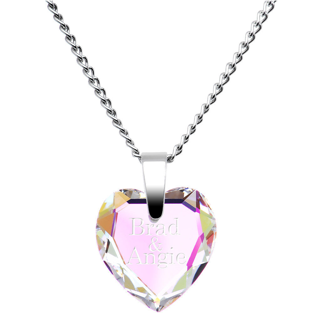 pendant steel stainless necklace hanging shape heart personalized