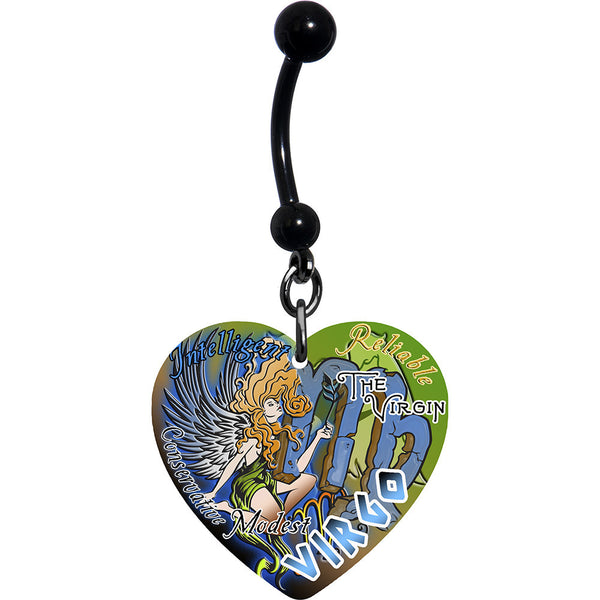 Heart Zodiac Virgo Belly Ring