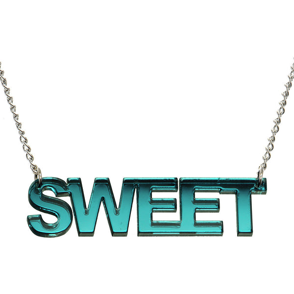 Green Lucite Sweet Necklace