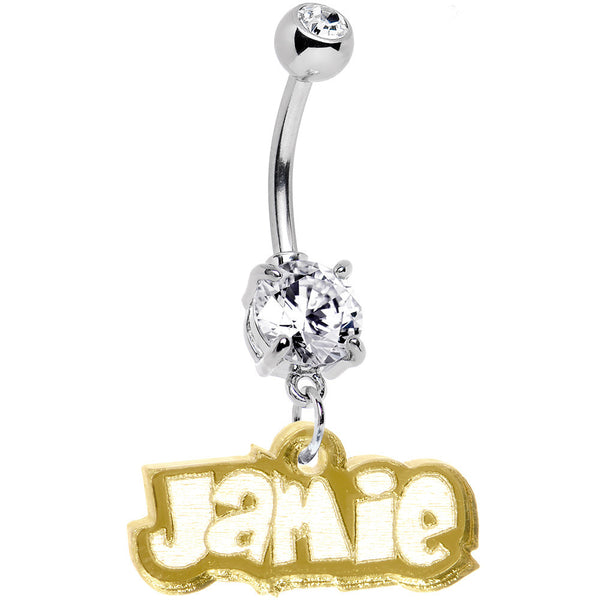 Custom Lucite Fun Belly Ring Created with Swarovski Crystals