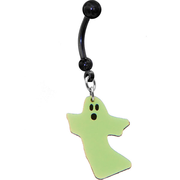 Glow in the Dark Ghost Belly Ring