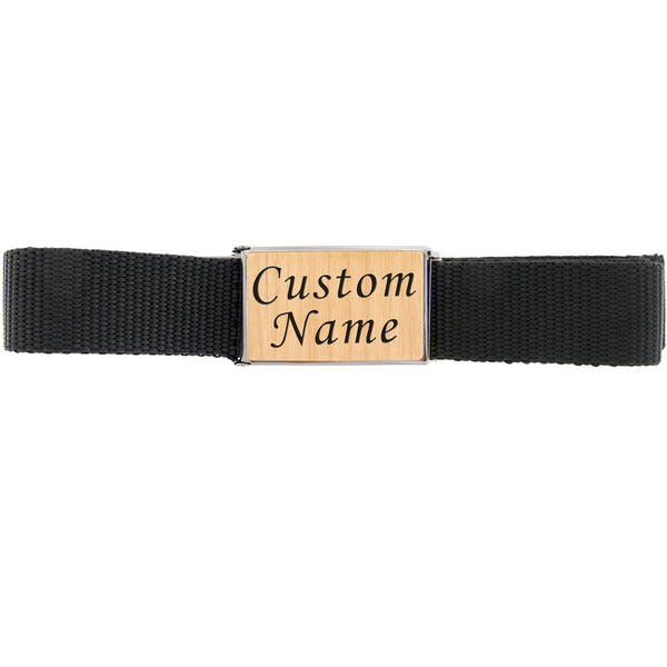 Custom BELT BUCKLE Maple Veneer NAME