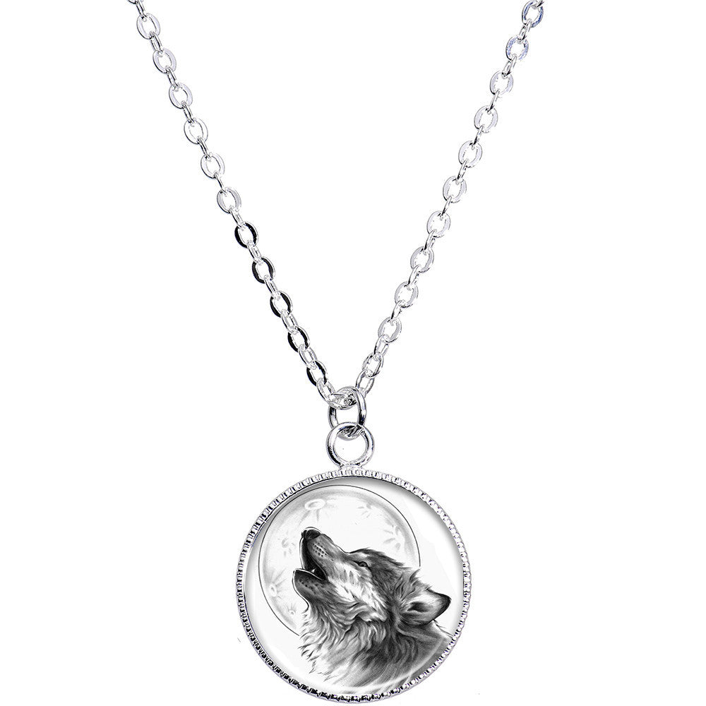 Howling wolf pendant necklace bodycandy howling wolf pendant necklace aloadofball Choice Image