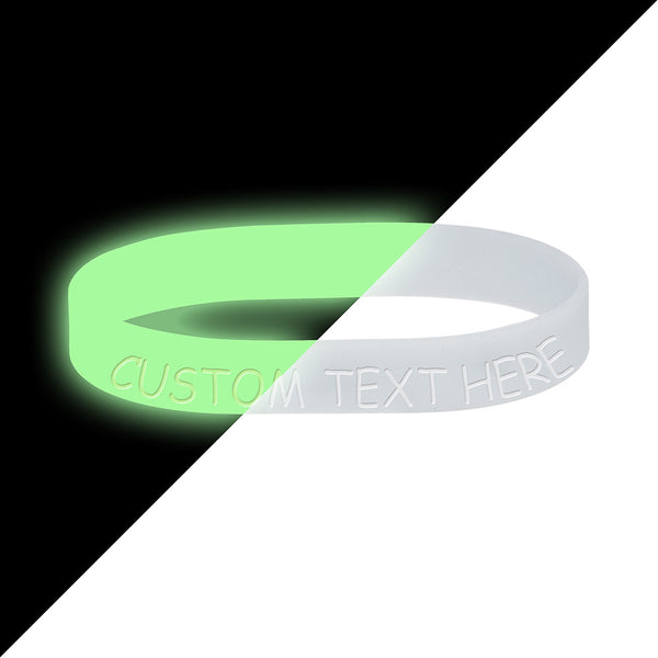 Custom No. 2 Glow in the Dark Silicone Bracelet