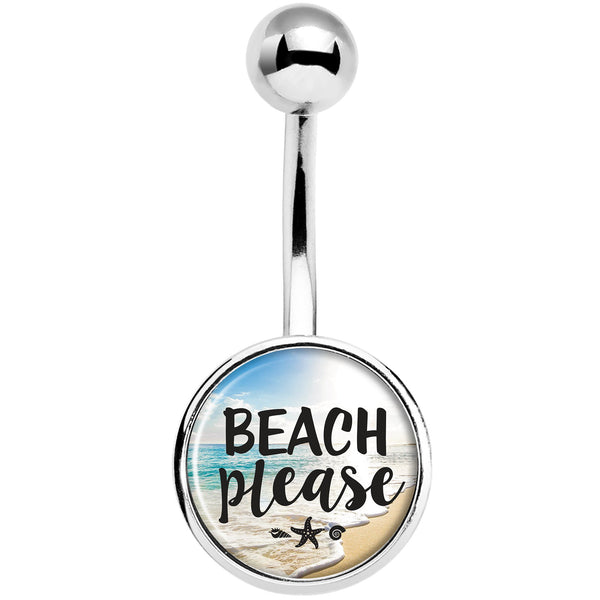 Tropical Paradise Beach Please Belly Ring