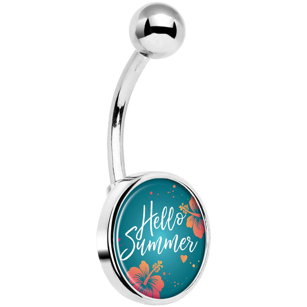 Floral Hello Summer Belly Ring