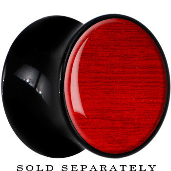 Black Acrylic Red Koto Wood Inlay Saddle Plug