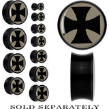 Black Acrylic Iron Cross Saddle Plug