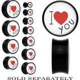 Black Acrylic I Heart You Saddle Plug