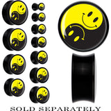 Black Acrylic Yin Yang Smiley Face Saddle Plug