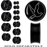 Acrylic Black Dove Saddle Plug