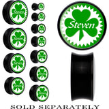 Custom Green Shamrock Personalized Saddle Plug