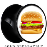 Black Acrylic Hot Hamburger Saddle Plug