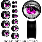 Black Acrylic Purple Sky Human Eye Saddle Plug