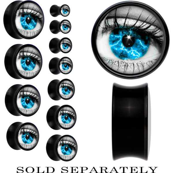 Black Acrylic Aqua Sky Human Eye Saddle Plug