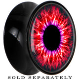 Black Acrylic Human Eye Red Explosion Saddle Plug
