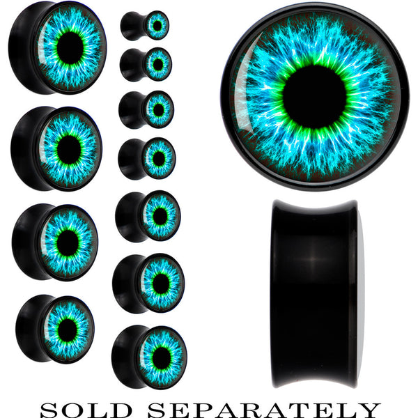 Black Acrylic Human Eye Aqua Explosion Saddle Plug