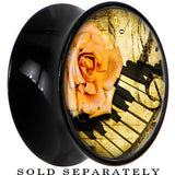 Black Acrylic Rose on the Piano Saddle Plug