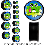 Black Acrylic Cartoon Cutie Frog Lilypad Saddle Plug