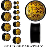 Black Acrylic Egyptian Hieroglyphics Wall Carving Saddle Plug