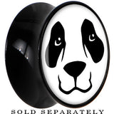 Black Acrylic Panda Bear Face Saddle Plug