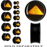 Black Acrylic Egyptian Pyramid Saddle Plug
