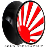Black Acrylic Rising Sun Flag or Japan Saddle Plug