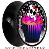 Black Acrylic Skeletal Backdrop Skull and Bones Cupcake Saddle Plug