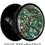 Black Acrylic Paua Shell Saddle Plug