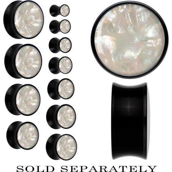 Black Acrylic Mother of Pearl Saddle Plug