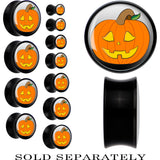Black Acrylic Halloween Jack O'Lantern Saddle Plug