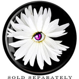 Black Acrylic White Daisy Flower Saddle Plug
