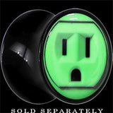 Outlet Glow in the Dark Saddle Plug in Black Acrylic