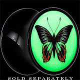 Monarch Butterfly Glow in the Dark Saddle Plug in Black Acrylic