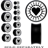 Black Illuminated Heart Saddle Plug in Black Acrylic