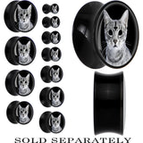 Evil Kitty Inverted Cross Saddle Plug in Black Acrylic