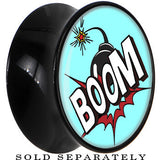 Boom Goes the Bomb Saddle Plug in Black Acrylic