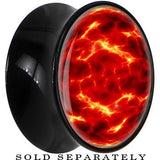 Fiery Planet Saddle Plug in Black Acrylic