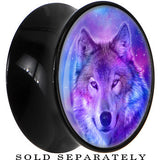 Harmonious Universe and Wolf Saddle Plug in Black Acrylic