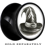 Magic Witch Hat Saddle Plug in Black Acrylic