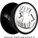 Fearsome Fangs Saddle Plug in Black Acrylic